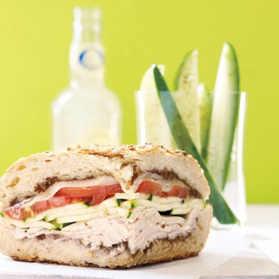 Toasted Turkey Sandwich with Quick Cucumber Pickles
