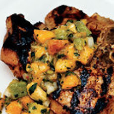 Grilled Pork Chops with Peachy Hot Salsa
