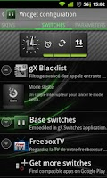 Screenshot of gX Switches