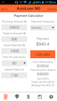 Screenshot of Auto Loan Calculator 360
