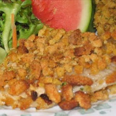 Crunchy Baked Catfish With Cornbread Stuffing