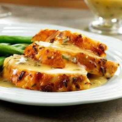 Lemon-Herb Roast Chicken with Pan Gravy