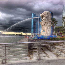 This is singapore by Dina New - Instagram & Mobile Android ( lion, merlion, view, singapore )