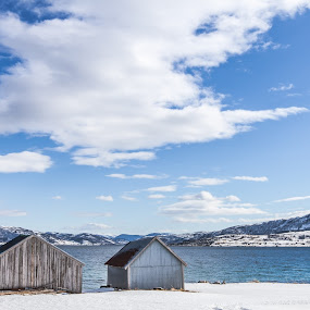 Blue sky, white clouds by Benny Høynes - Landscapes Cloud Formations ( canon, clouds, air, sunshine, day, norway )