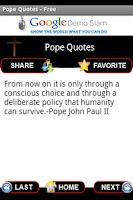 Screenshot of Pope Quotes - Free