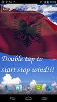 Screenshot of 3D Albania Flag LWP +