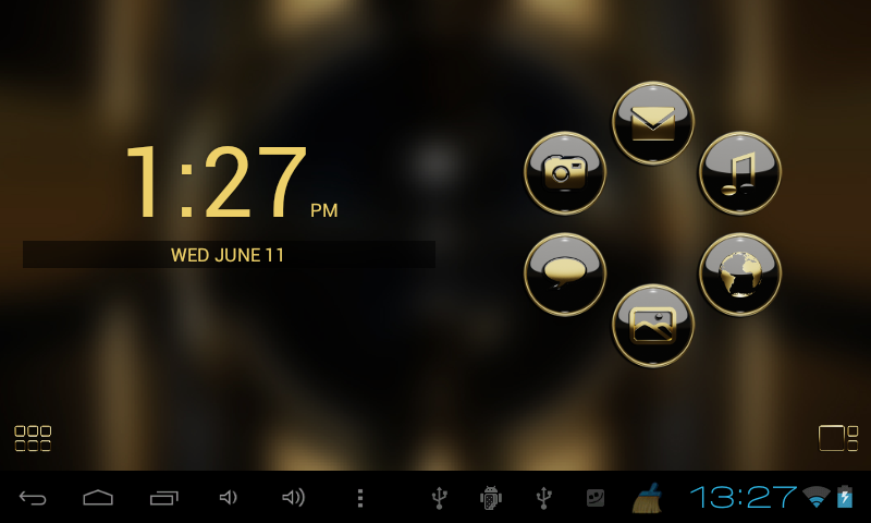 Smart Launcher theme b. gold Screenshot 5