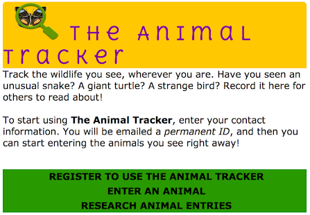 The Animal Tracker - screenshot