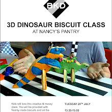 BKD KIDS 3D DINOSAUR BISCUIT DECORATING CLASS @ NANCY'S PANTRY