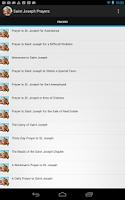 Screenshot of Saint Joseph Prayers