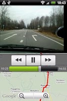 Screenshot of VideoRoad (car video recorder)