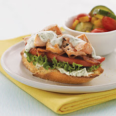 Open-Faced Salmon BLTs