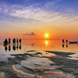 Sunrise at Karang Beach by Denny Iswanto - Landscapes Sunsets & Sunrises