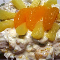 College Student's Brilliant Doctored Chicken Fruit Salad