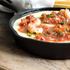 Shrimp Queso Flameado With Ranchera Salsa