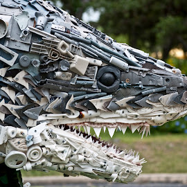 Shark by Sergio Yorick - Artistic Objects Other Objects ( recycle, artistic, artistic objects, object, shark,  )
