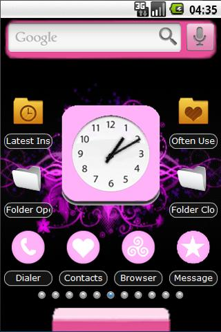 Cool Pink Hearts Theme
