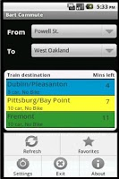 Screenshot of Bart Commute