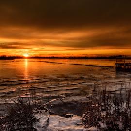 January Beauty by Linda Karlin - Landscapes Sunsets & Sunrises ( winter, nature, sunset, landscape )