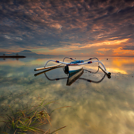 Spider Boat in Parking by Gede Suyoga - Transportation Boats