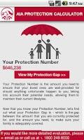 Screenshot of AIA Protection Singapore