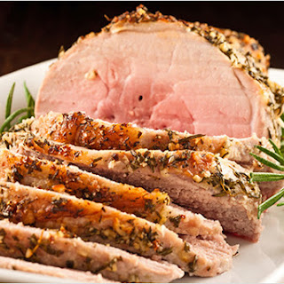 Garlic-Herb Crusted Boneless Pork Sirloin Roast