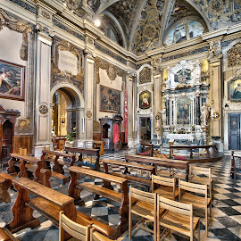 In silence by Uroš Petrič - Buildings & Architecture Places of Worship ( church, udine, ornamented, silence, small, italy, Architecture, Ceilings, Ceiling, Buildings, Building )