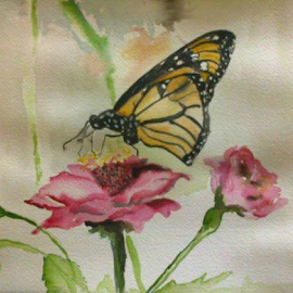 water color by Abirami Uma - Painting All Painting ( butterfly, nature, painting, watercolour, flower,  )