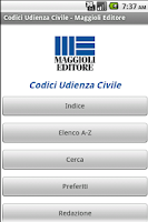 Screenshot of Codici Udienza Civile