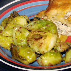 Maple and Dijon Glazed Brussels Sprouts