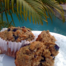Really Good Low Cal, Low-Fat, Healthy Blueberry Oatmeal Muffins