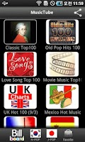Screenshot of Music Tube HD, Hot Music Chart