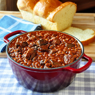 Maple Chipotle Pulled Pork and Beans