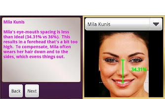 Screenshot of Vanity MIrror- Beauty Analysis