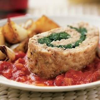 Spinach-Stuffed Turkey Meat Loaf