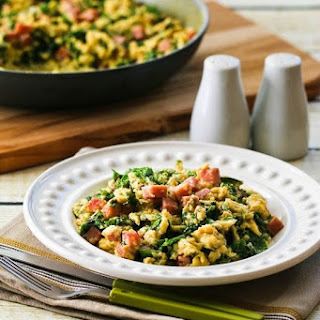 Green Eggs and Ham (Scrambled Eggs with Ham and Kale)