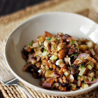 Winter Wheat Berry Salad with Figs & Red Onion