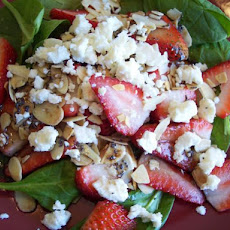 Delicious Easy Spinach and Strawberry Salad With Feta