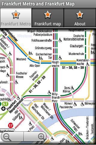 法兰克福地铁运行图 法兰克福地图