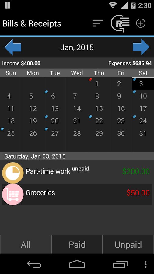 My Wallet - Expense Manager Screenshot 3