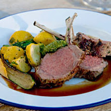 Herb-Crusted Rack of Lamb with Gremolata Pesto
