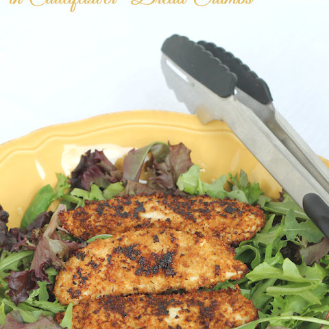 Paleo Chicken Fingers in Cauliflower Bread Crumbs
