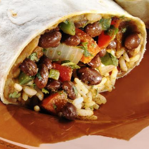 Vegetarian Bean and Rice Burrito