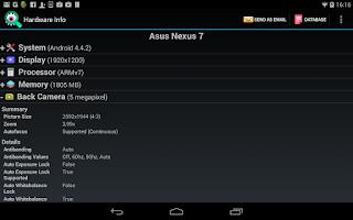Screenshot of Android Hardware Info