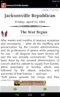 Screenshot of American Civil War Gazette