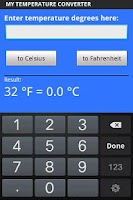 Screenshot of My Temperature Converter