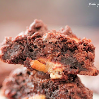 Double Chocolate Snickers Chunk Cookies