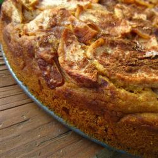 Pumpkin Cake with Apple Top