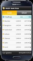 Screenshot of Gold Live Price India