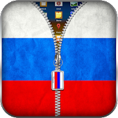 Russia Flag Zipper Lock APK for Bluestacks